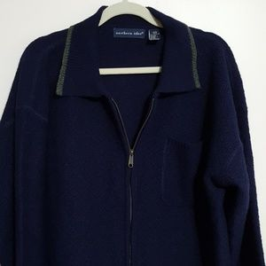 Northern Isles zip front sweater, sz XL
